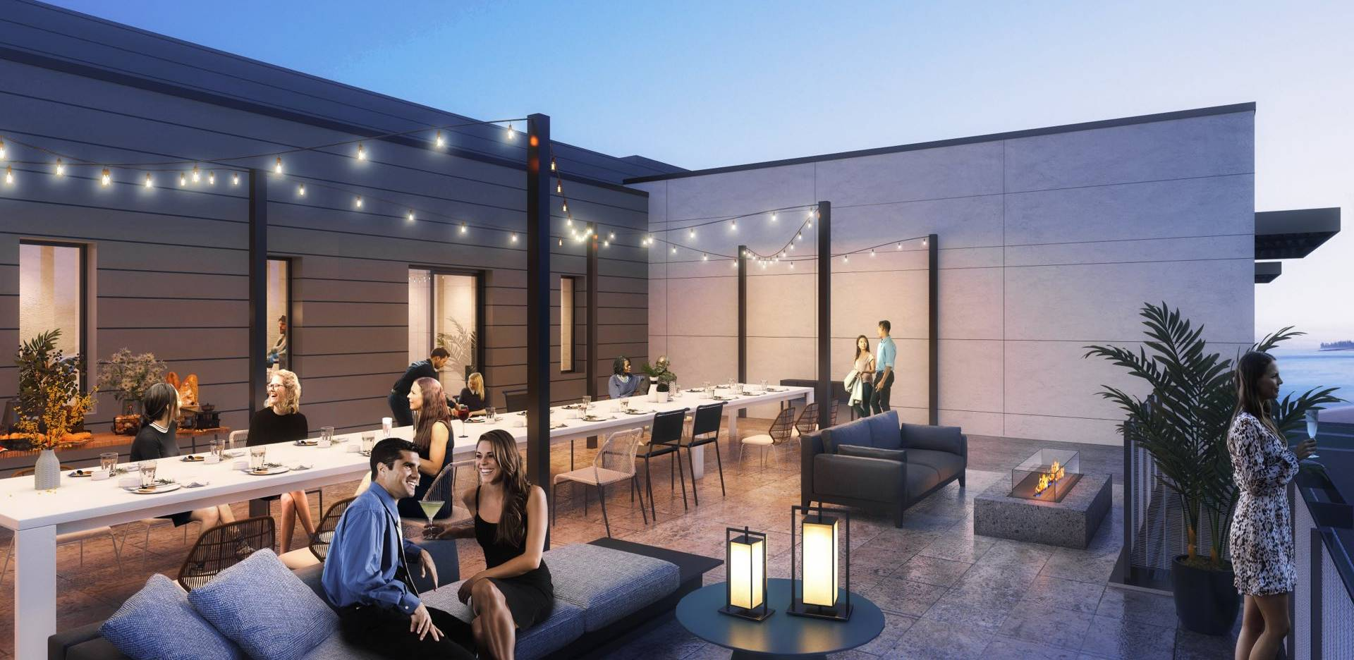 Our gathering terrace with communal seating